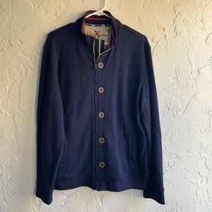 Robert Graham Button Down Zip Up Sweater